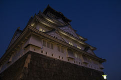 Osaka Castle. Night shot of Osaka Castle in Japan Royalty Free Stock Photography