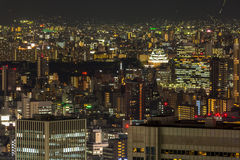 Osaka castle night Royalty Free Stock Photo