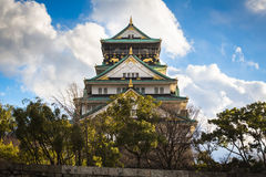 Osaka Castle. Is one of Japan`s most famous landmarks located in Osaka ,Japan Stock Photos