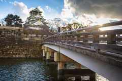 Osaka Castle. Is one of Japan`s most famous landmarks located in Osaka ,Japan Stock Photography