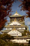 Osaka castle one of most popular traveling destination in japan royalty free stock photo
