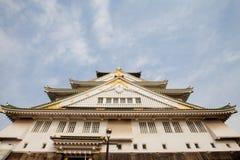 Osaka Castle in Osaka city, Japan. Royalty Free Stock Images