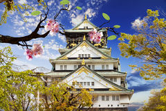 Osaka Castle in Osaka, Japan. Royalty-vrije Stock Foto