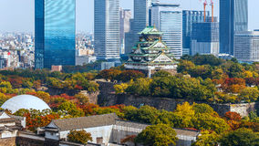 Osaka Castle in Osaka, Japan stock foto's