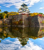 Osaka Castle in Osaka, Japan. Royalty Free Stock Image