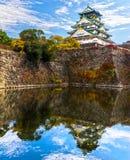 Osaka Castle in Osaka, Japan. Royalty Free Stock Photos