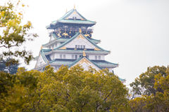 Osaka Castle in Osaka, Japan. Close up Osaka castle in Osaka, Japan Stock Image