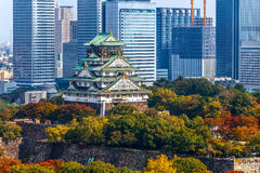 Osaka Castle in Osaka, Japan stock image