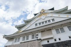 Osaka castle in Japan. Osaka castle in Osaka, Japan Royalty Free Stock Photo