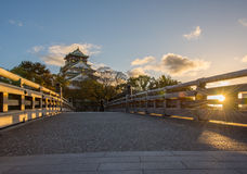 Osaka Castle in Osaka, Japan. At twilight Royalty Free Stock Photos