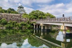 Osaka castle or Osaka-jo, the lanmark of Osaka Stock Photos