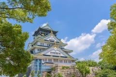 Osaka castle or Osaka-jo, the lanmark of Osaka Royalty Free Stock Image
