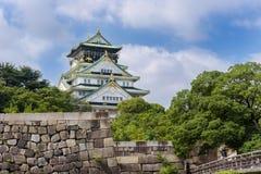 Osaka castle or Osaka-jo, the lanmark of Osaka in Japan Royalty Free Stock Image