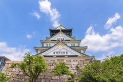 Osaka castle or Osaka-jo, the lanmark of Osaka Stock Images