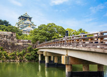 Osaka Castle at Osaka. One of Japan's most famous landmarks Stock Photos