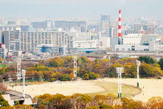 Osaka castle park baseball ground Stock Image