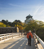 Osaka castle park in Kyoto, Japan Stock Photography