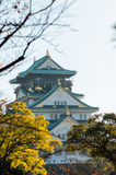 Osaka Castle Park. Is a public urban park and historical site situated at Osaka, Japan. The castle was built by Toyotomi Hideyoshi in year 1583. This park is Stock Photography