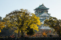 Osaka Castle Park. Is a public urban park and historical site situated at Osaka, Japan. The castle was built by Toyotomi Hideyoshi in year 1583. This park is Stock Image