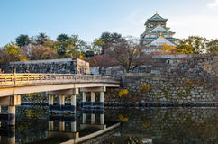 Osaka Castle Park. Is a public urban park and historical site situated at Osaka, Japan. The castle was built by Toyotomi Hideyoshi in year 1583. This park is Stock Photo
