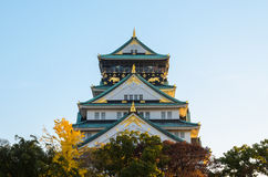 Osaka Castle Park. Is a public urban park and historical site situated at Osaka, Japan. The castle was built by Toyotomi Hideyoshi in year 1583. This park is Royalty Free Stock Photo