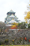 Osaka Castle pendant l'automne Image stock