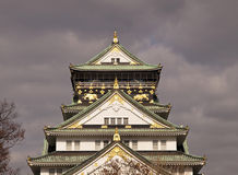 Osaka Castle before rain. Royalty Free Stock Image