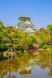 Osaka Castle reflecting Stock Image