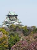 Osaka castle. Roof part of Osaka castle Stock Photography