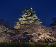 Osaka Castle Sakura imagen de archivo libre de regalías