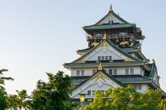 Osaka Castle sikt Arkivfoton