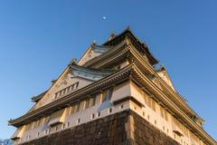 Osaka Castle sikt Arkivbild