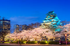 Osaka Castle in Spring. Osaka, Japan at Osaka Castle during spring season Stock Photos