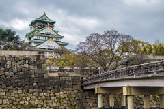 Osaka Castle. During spring time in Japan Royalty Free Stock Photo