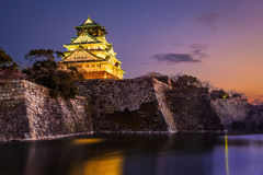 Osaka Castle. At sunset, Osaka, Japan Royalty Free Stock Photography