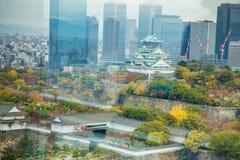 Osaka castle tower in Osaka City, japan royalty free stock images