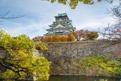 Osaka castle tower in Osaka City, japan stock images
