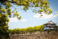 Osaka castle turret Royalty Free Stock Photo