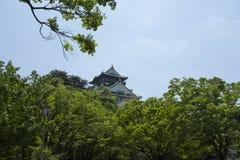 Osaka Castle in Osaka van Japan stock afbeelding