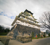 Osaka Castle view from the base Royalty Free Stock Image