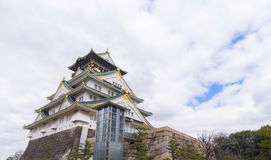 Osaka Castle view from below Royalty Free Stock Photography