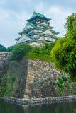 Osaka Castle von den Wänden Lizenzfreies Stockbild