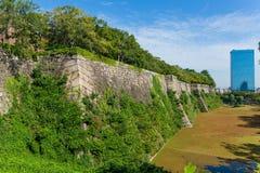 Osaka castle wall Stock Photography