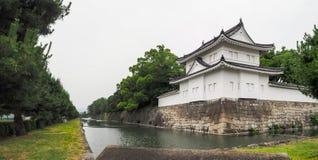 Osaka castle walls Stock Image