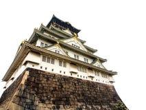 Osaka castle on white background, Osaka Japan 4 Stock Photo