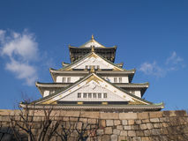 Osaka castle. In winter shiny day Royalty Free Stock Photos
