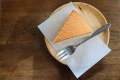 Osaka Cheesecake na drewnianym stole Obraz Royalty Free