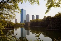The osaka city with lake refection. For adv or others purpose use Stock Images