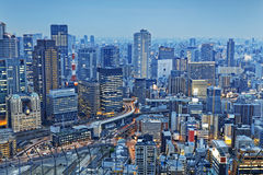Osaka city night Stock Image