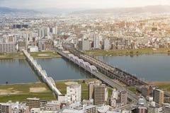 Osaka city skyline Royalty Free Stock Photo